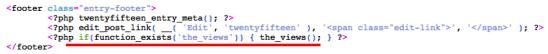 code for wp-postviews