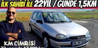 KM cimrileri - 17.000km 1998 Opel corsa b swing