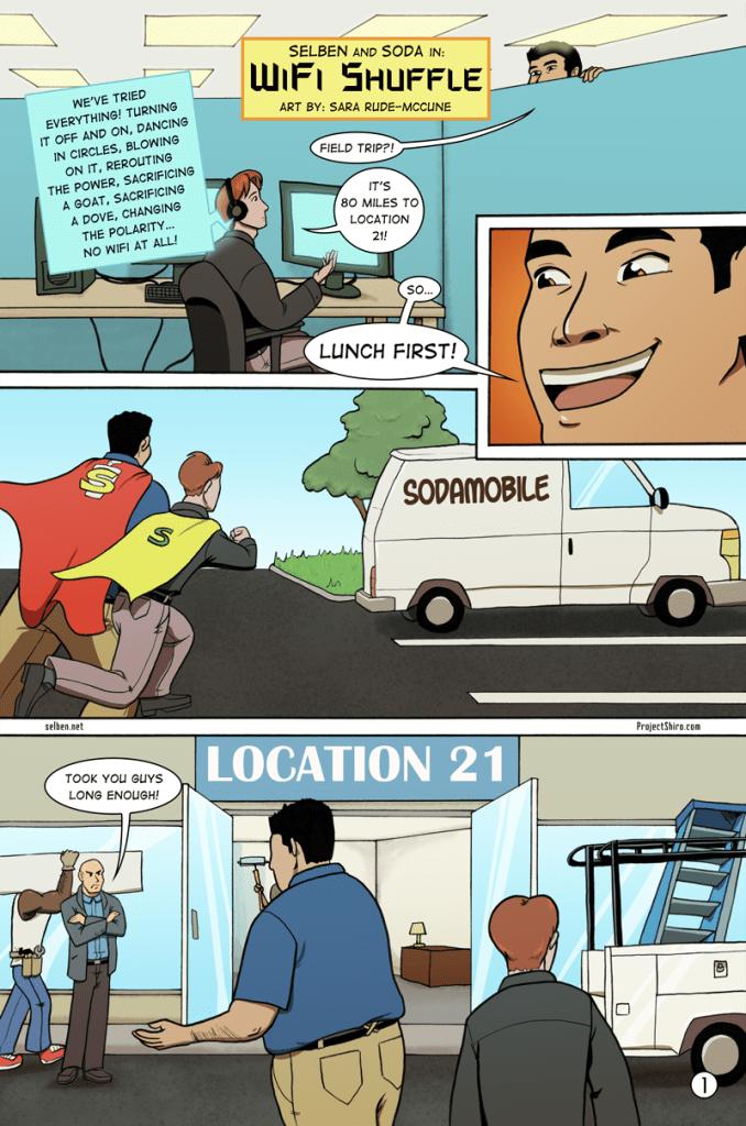 Comic for Wifi Shuffle page 1