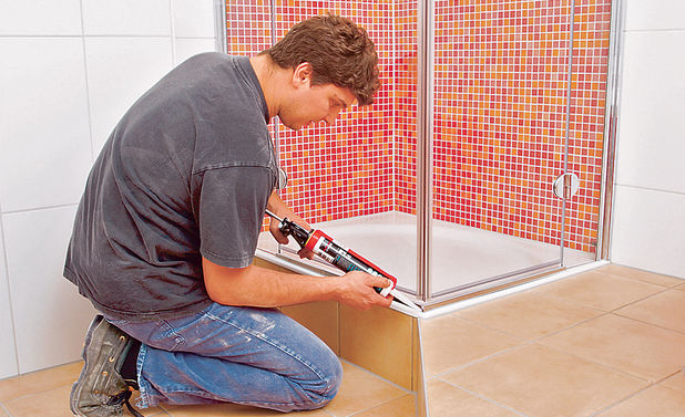 Dusche selber bauen  selbstde