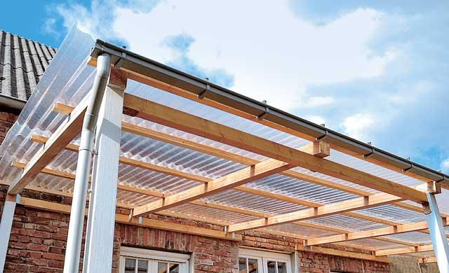 Terrassenberdachung selber bauen  selbstde