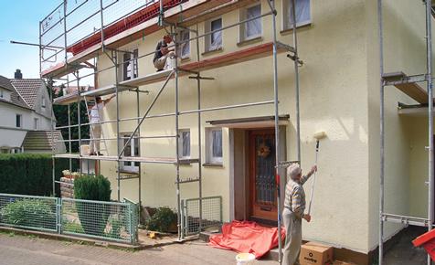 Fassade streichen  Wnde verputzen  streichen  selbstde