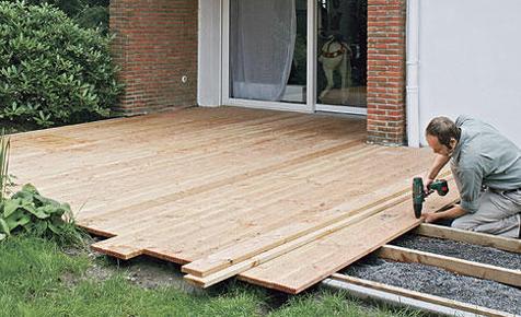 Terrasse Aus Holzdielen Bauen Holzarbeiten & Möbel Selbst De
