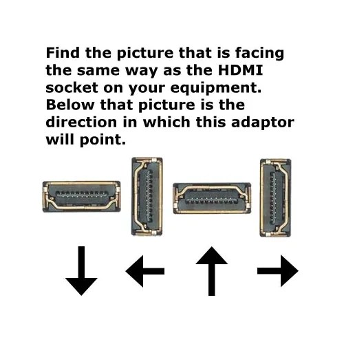 HDMI Cable Right Angle Adaptor 270 Deg for Tight Spaces