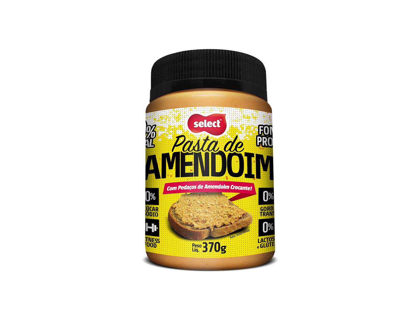 pasta integral de amendoim granulado