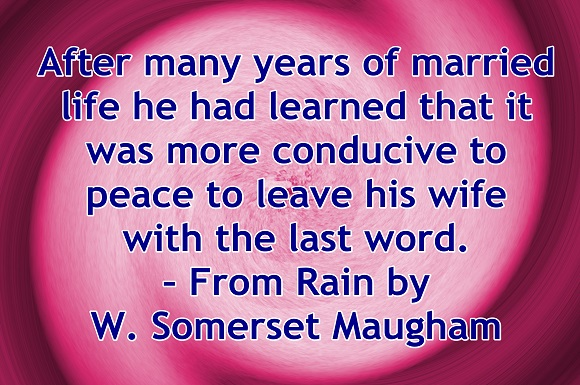 Everyone in a serious relationship knows peace is easier when we learn to say yes, often.