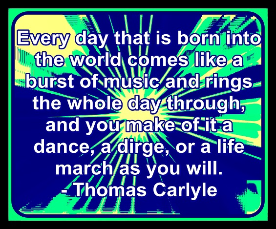 Life is a dance or it can be a countdown to death. The choice is ours. I choose dance.