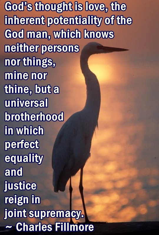 Expressing perfect equality and justice is the potentiality of the God-realized individual. TY Dale McDonald