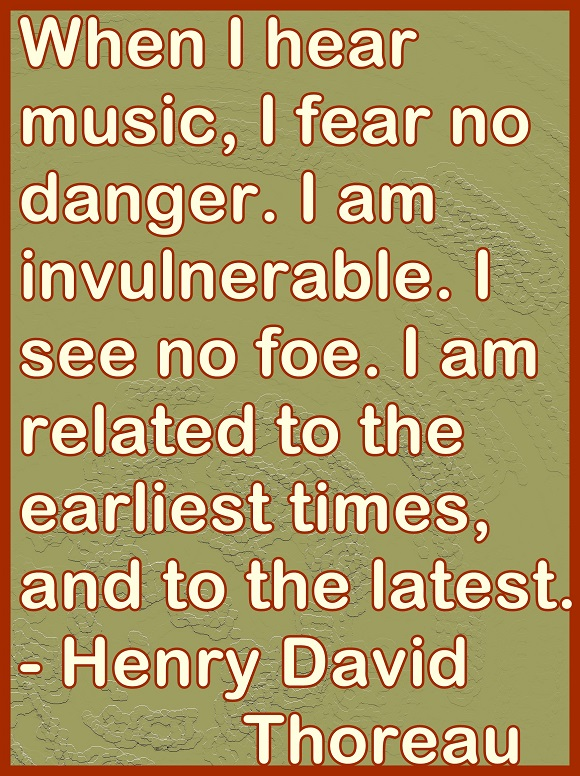 Music, which speaks to our soul, can help us transcend time and space.