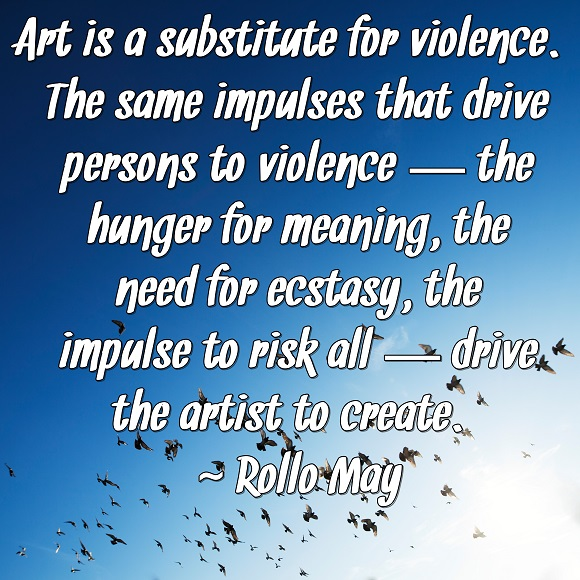 The hunger to create art can satisfy core desires in a fulfilling, acceptable manner.