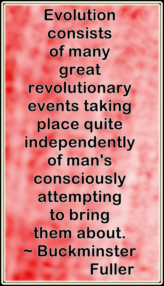 0602 Man, despite his wealth of knowledge and creativity, has never been able to bring about or halt evolution.