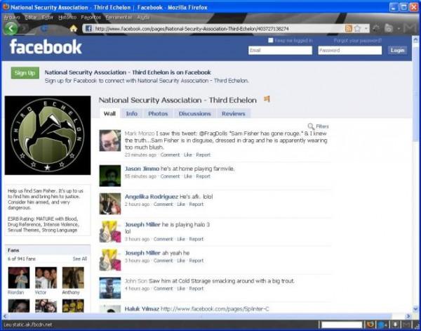 Splinter Cell Conviction Facebook