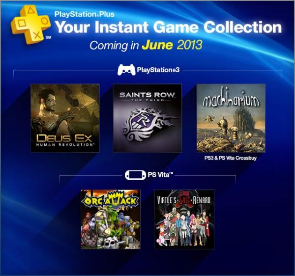 PlayStation Plus Junho 2013