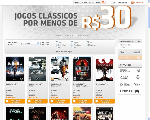 Electronic Arts Origin Promocao