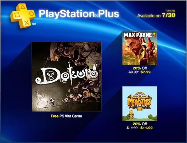 PlayStation Plus Dokuro e Max Payne 3