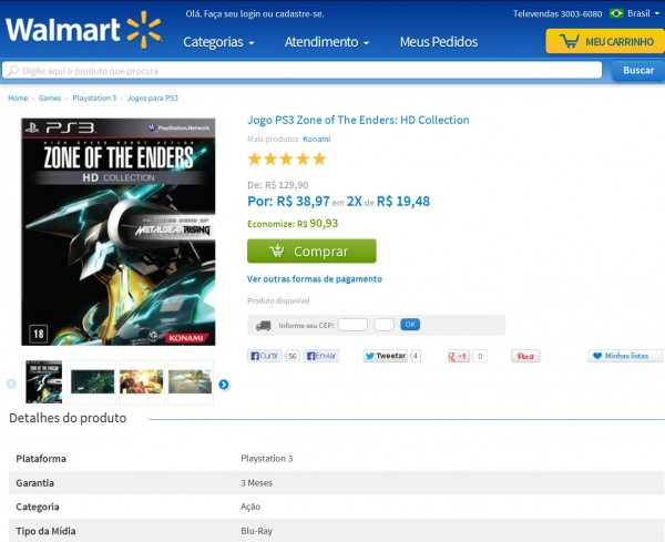 Zone of The Enders Promocao Walmart