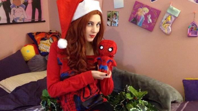 Mary Jane Watson Cosplay - Clima de Natal - Topo