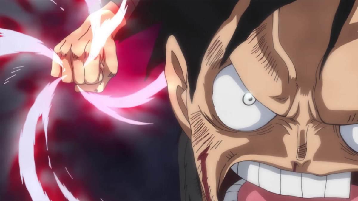 One Piece - Luffy desferindo soco