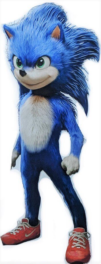 Render do Sonic - Filme - Corpo Inteiro