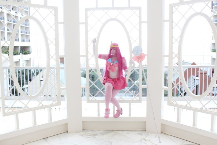 Cosplay da Princesa Jujuba em estilo Sailor Moon - Adventure Time