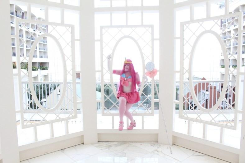 Cosplay da Princesa Jujuba em estilo Sailor Moon - Adventure Time - Foto 2