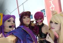 Cosplays de League of Legends KDA - Aniventure - Ahri - Akali - Kai'Sa e Evelynn