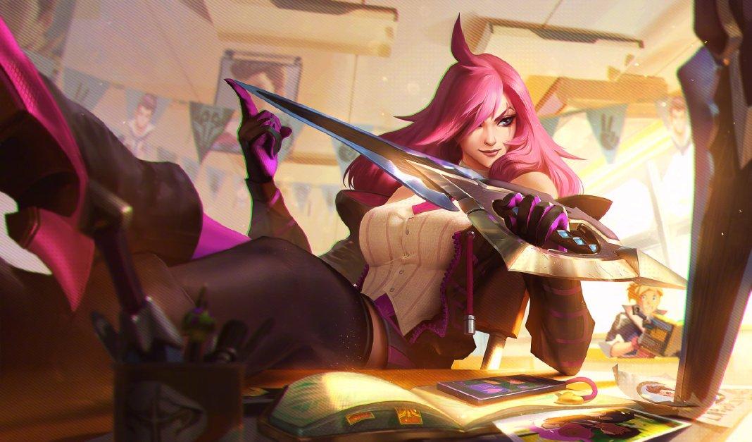 League of Legends - Katarina Academia de Batalha
