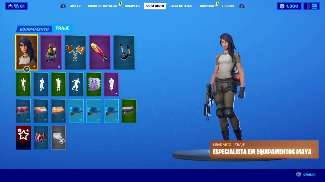 Fortnite - Veja como trocar a skin do personagem - 01