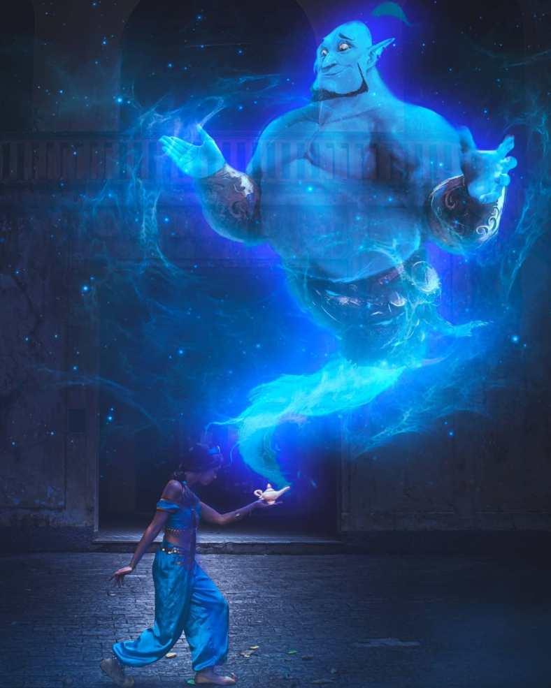 Arte Digital Cosplay da Jasmine (de Aladdin)