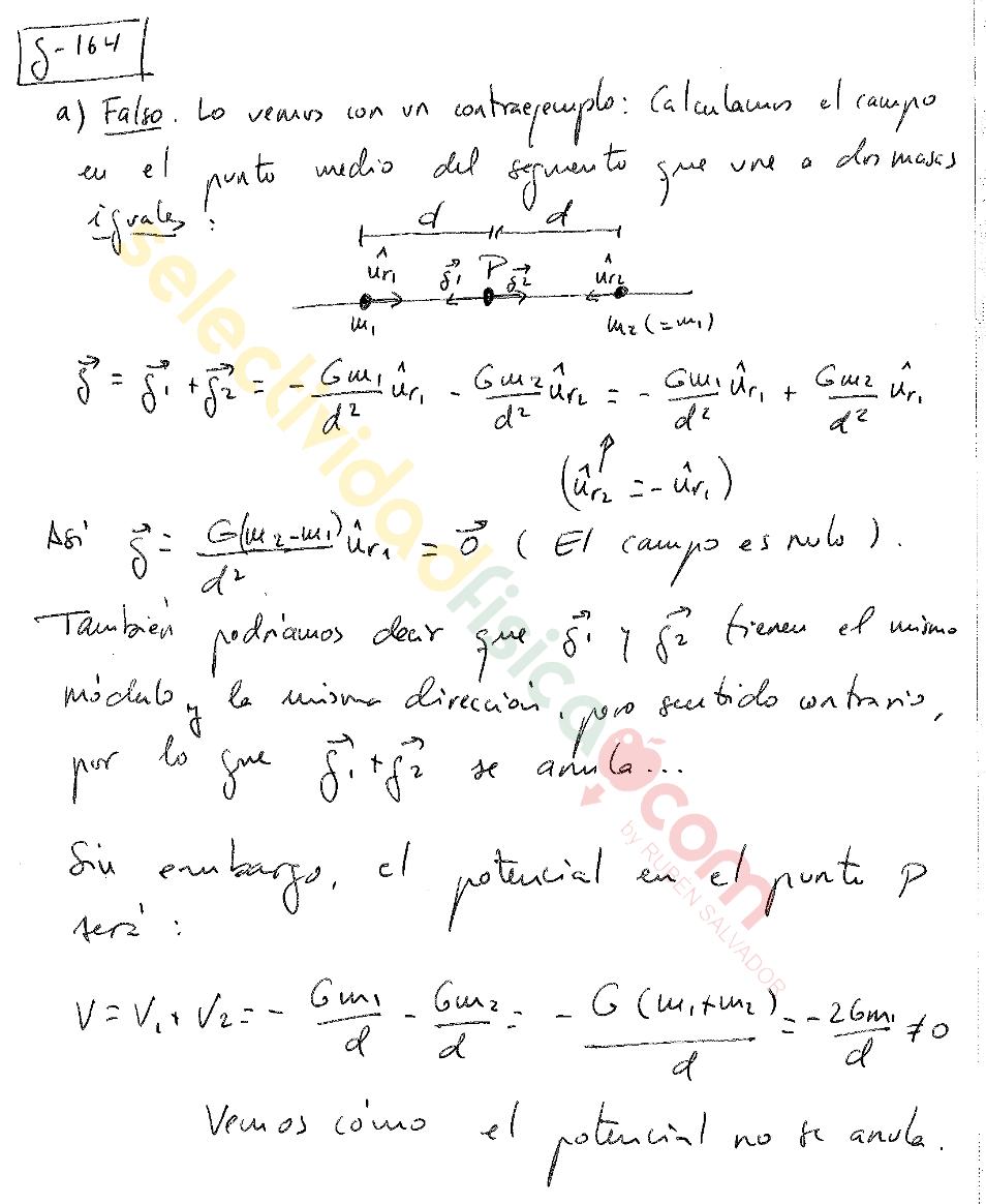 Ejercicio resuelto selectividad física Campo Gravitatorio-G-164