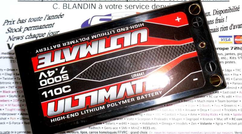 ULTIMATE  Shorty 5000 110c 5mm pack lipo