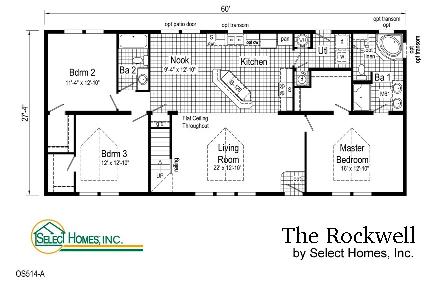 Four bedroom ranch house plans for Select home designs