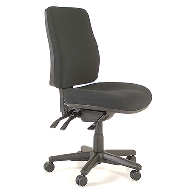 ergonomic chair levers design master furniture chairs buro roma office high back 3 lever jett fabric black