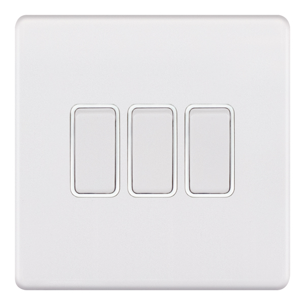 5MPLUS-903 10 Amp Plate Switch – 3 Gang 2 Way