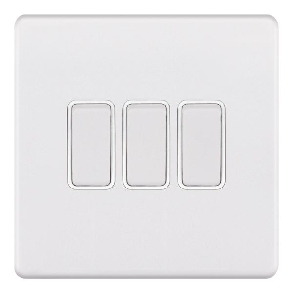 5MPLUS-903 10 Amp Plate Switch – 3 Gang 2 Way