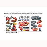 Disney Cars 3 Wall Stickers 44708 | Walltastic Wall ...
