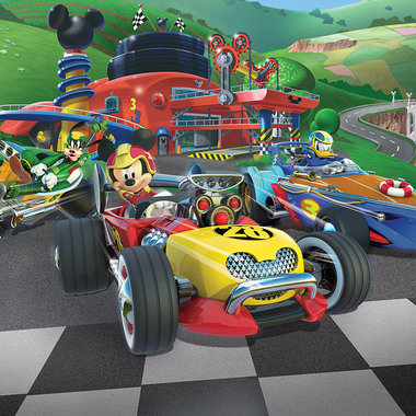Walltastic Disney Cars Wallpaper Mural Walltastic Disney Mickey Mouse Roadster Racers 45293 12