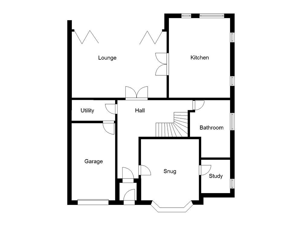House Plan: New Chalet Bungalow with Striking Glazing