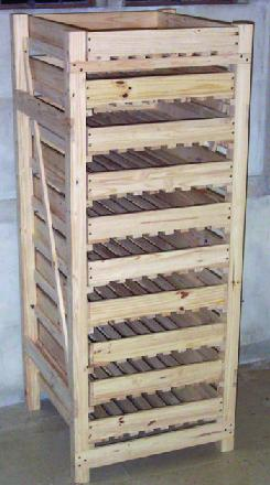 wooden apple racks