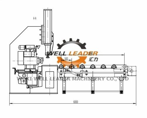 7500 Watt Horizontal Industrial Edge Milling Machine With