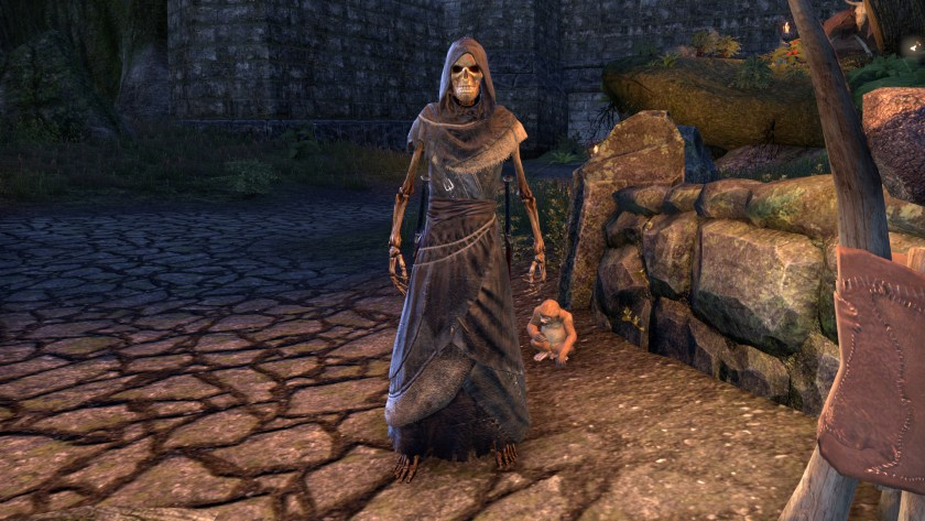Skeleton polymorph during the Witches Festival in The Elder Scrolls Online.