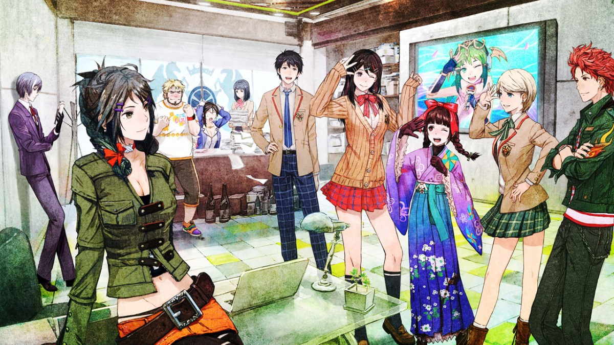 The cast of Tokyo Mirage Sesions #FE at Fortuna Office