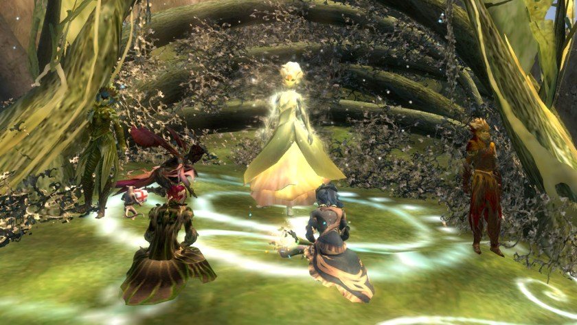 The Pale Tree blesses the new wielder of Caladbolg in Guild Wars 2