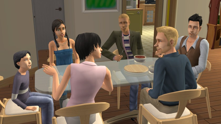 The Broke Family in The Sims 2