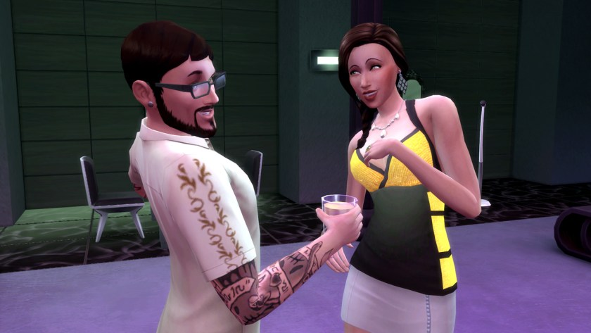 Andre DaSilva flirting with Jade Rosa in The Sims 4