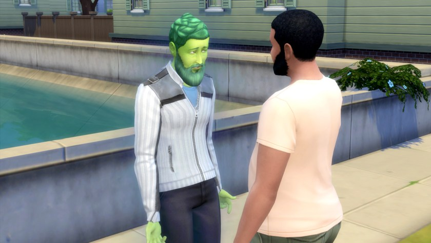 Tyson Temple as a PlantSim in The Sims 4