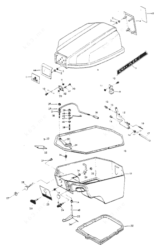 Chrysler 10 1976, Engine Cover and Support Plate Manual