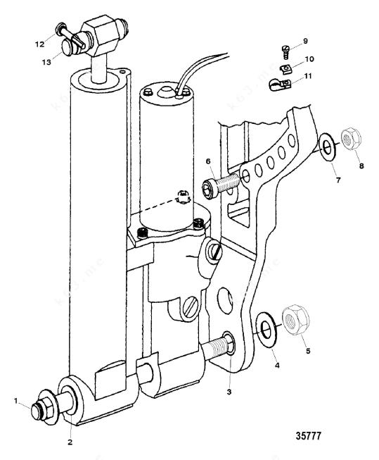 Mercury Force 40 H.P. 1999, Trim Mounting, Hydraulic
