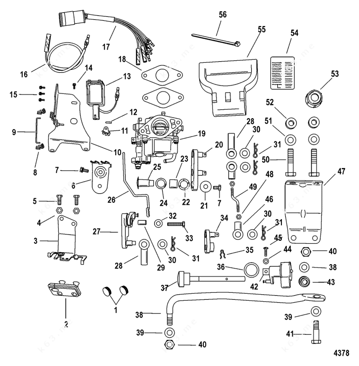 Mercury/Mariner 9.9 4-Stroke 209cc, Conversion Kit