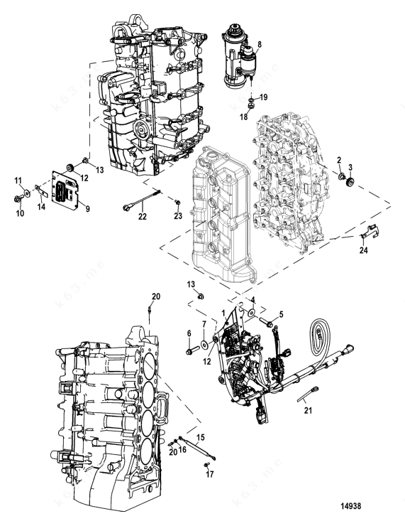 Mercury/Mariner 115 EFI 4-Stroke, Electrical Components